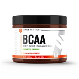 Simple Nutritions BCAA 4:1:1 Green Apple Flavour 300 g