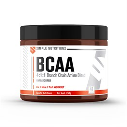 Simple Nutritions BCAA 4:1:1 Unflavoured 250 gr